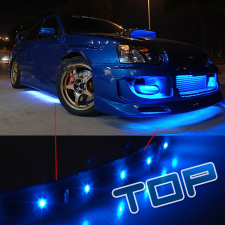 2x 120cm neon blue led bulb car strip light under body light waterproof. Black Bedroom Furniture Sets. Home Design Ideas